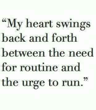 The urge to run