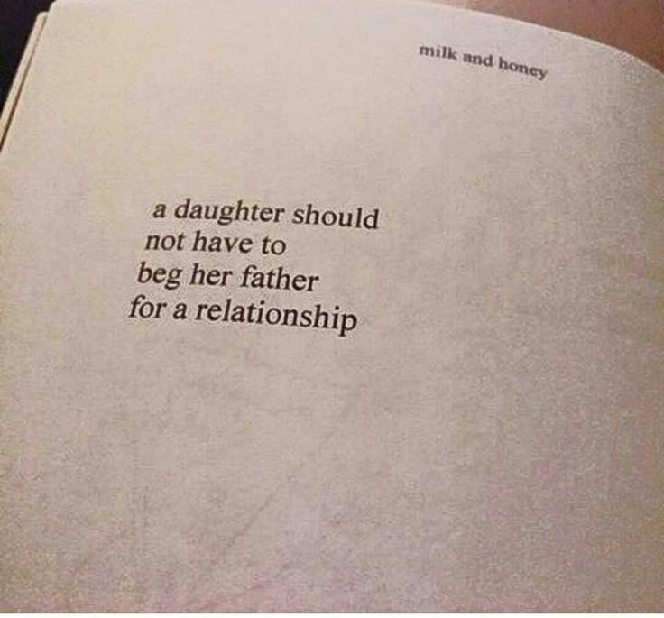 A daughter should never have to beg